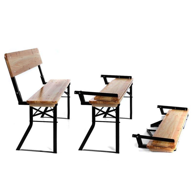 bierzeltgarnitur mit r ckenlehne feiern und bequem sitzen. Black Bedroom Furniture Sets. Home Design Ideas